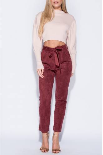 suedette-paper-bag-waist-trouser