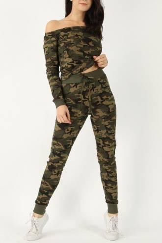 Set pantalon si bluza Camouflage