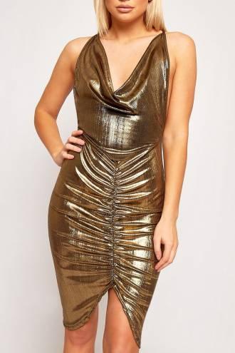 Rochie Golden Foil