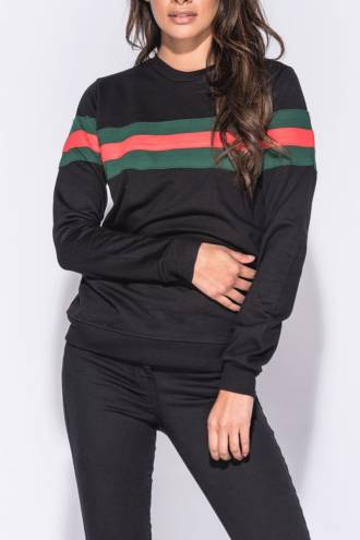 Bluza Stripes Black