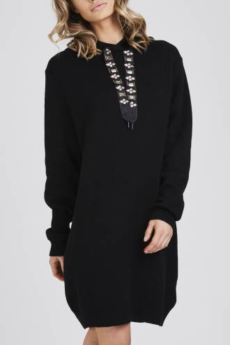 Rochie/pulover Jewels Black