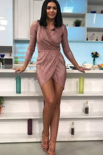 Rochie Metallic Pink