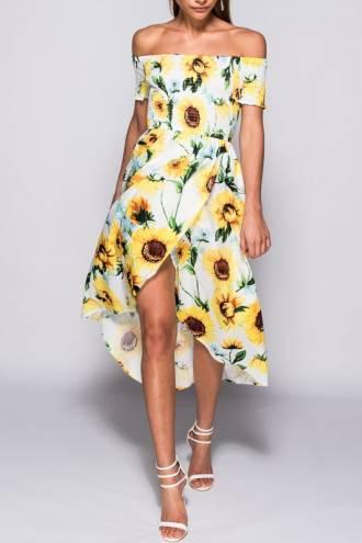 Rochie Maxi Sunflower White