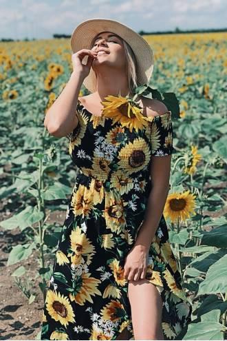 Rochie Maxi Sunflower Black