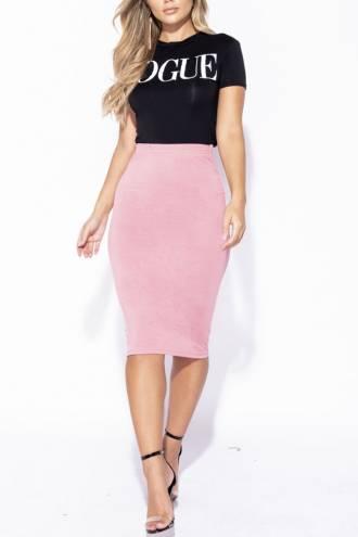 Fusta Basic Pink