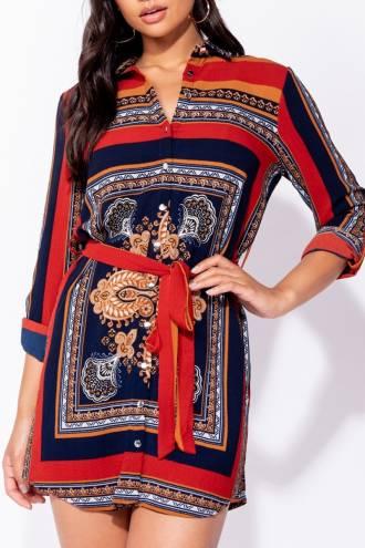 paisley-scarf-print-tie-waist-shirt-dress