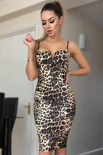 Rochie Kaira Leopard