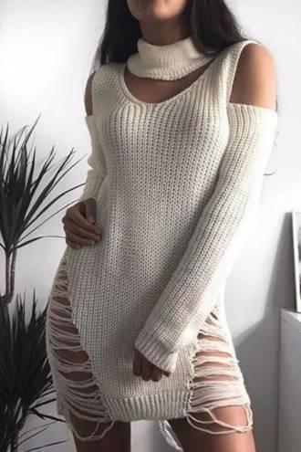 Rochie/pulover Doris White
