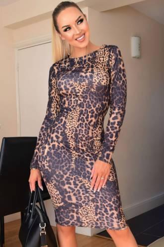 Rochie Erin Leopard