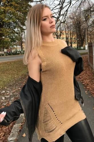 Rochie/pulover Linda Gold