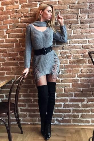 Rochie/pulover Doris Grey