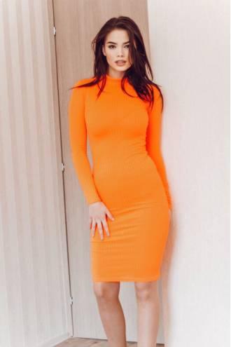 Rochie Susy Neon Orange