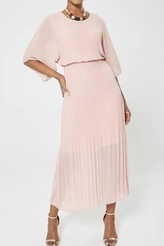 Rochie Plisse Pink