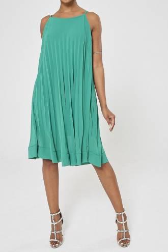 Rochie midi plisata Verde