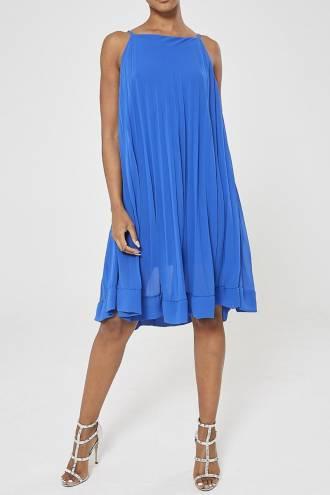 Rochie midi plisata Albastru