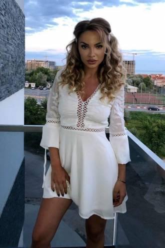 Rochie mini Folclor White
