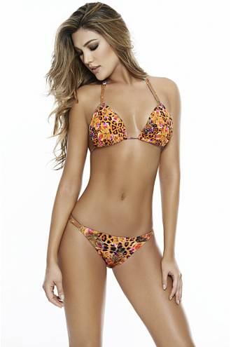 "Costum de baie ""Leashed Panther"" 14294"