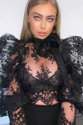 Bluza dantela Princess Black