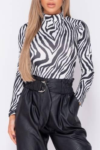 Body cu maneca lunga Zebra