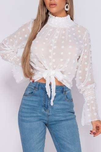 Bluza White Dots