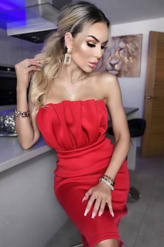 Rochie Brooke Scuba Red